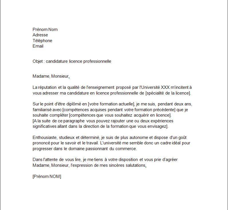 lettre de motivation licence 3 aes