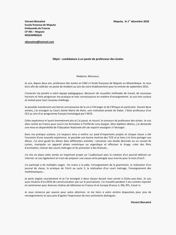 lettre de motivation marine nationale exemple