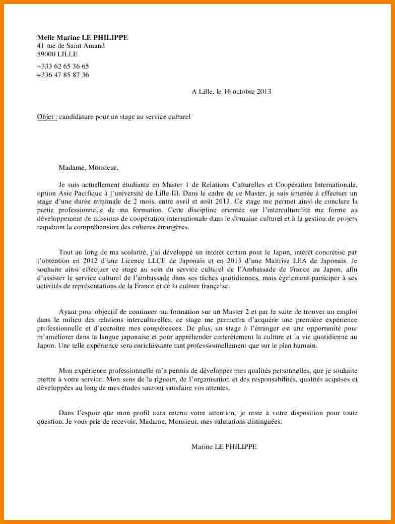 lettre de motivation pour un master en management
