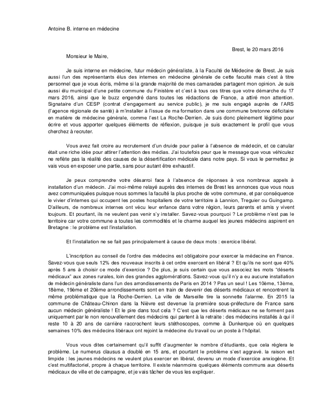 lettre de motivation medecin specialiste