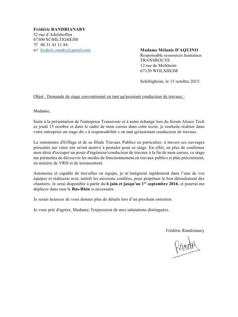 lettre de motivation batiment travaux publics