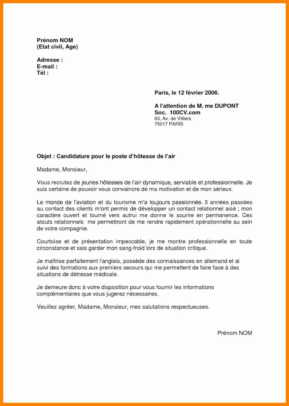 hotesse service client lettre de motivation