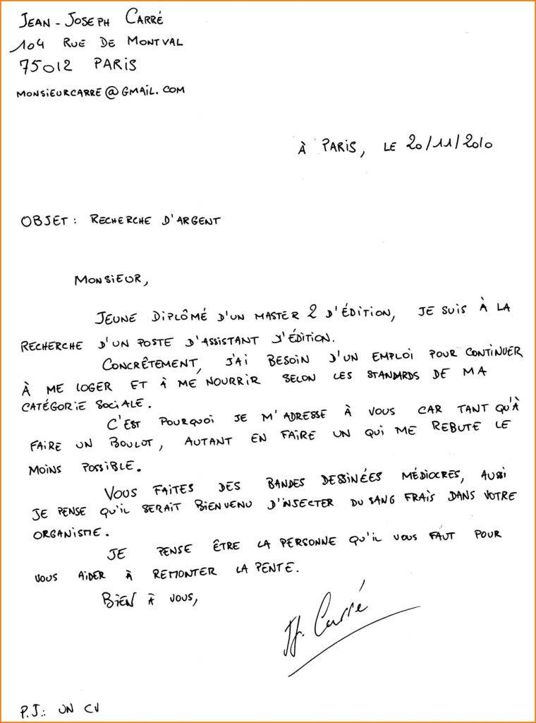 lettre de motivation cadet police nationale