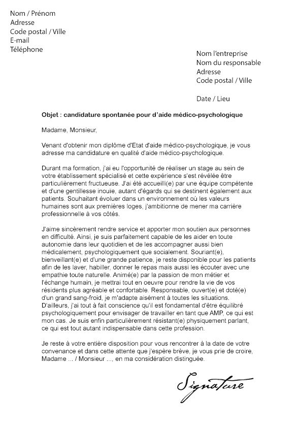 exemple de lettre de motivation pour candidature interne