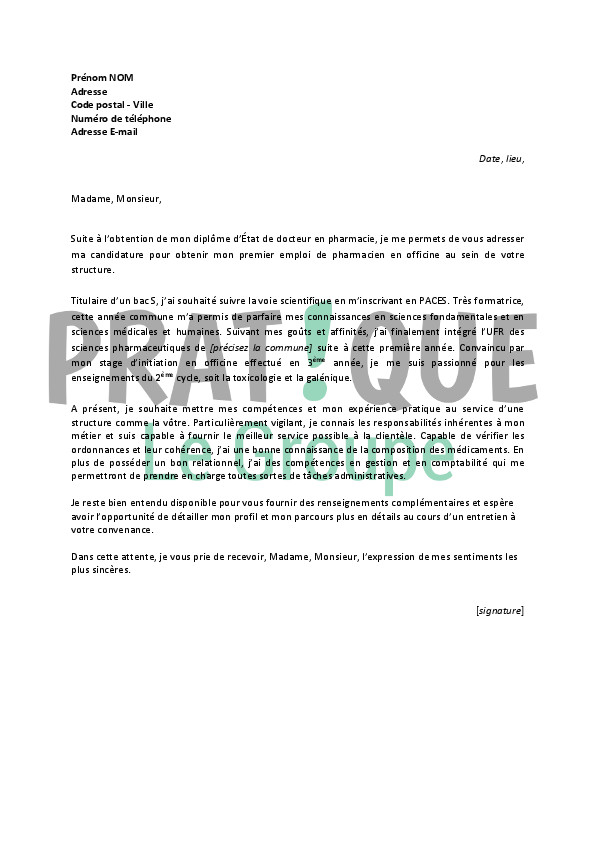 lettre de motivation exemple paces
