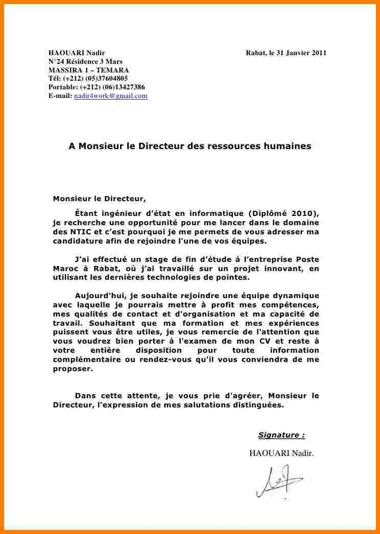 lettre de motivation candidature spontan u00e9e informatique