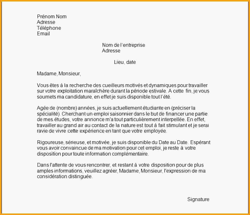lettre de motivation mcdo  u00e9tudiant saisonnier