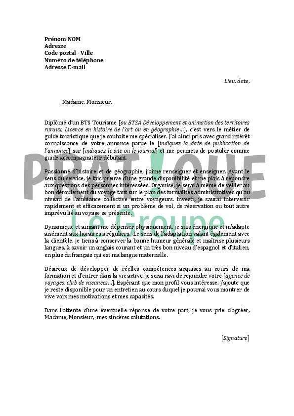 lettre de motivation fac de langues