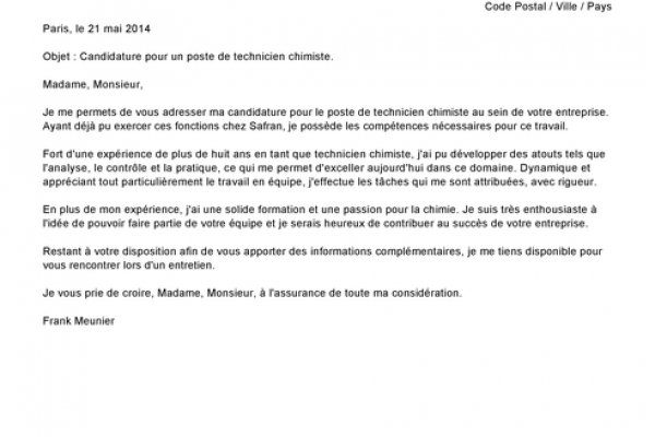 lettre de motivation poste assistant administratif
