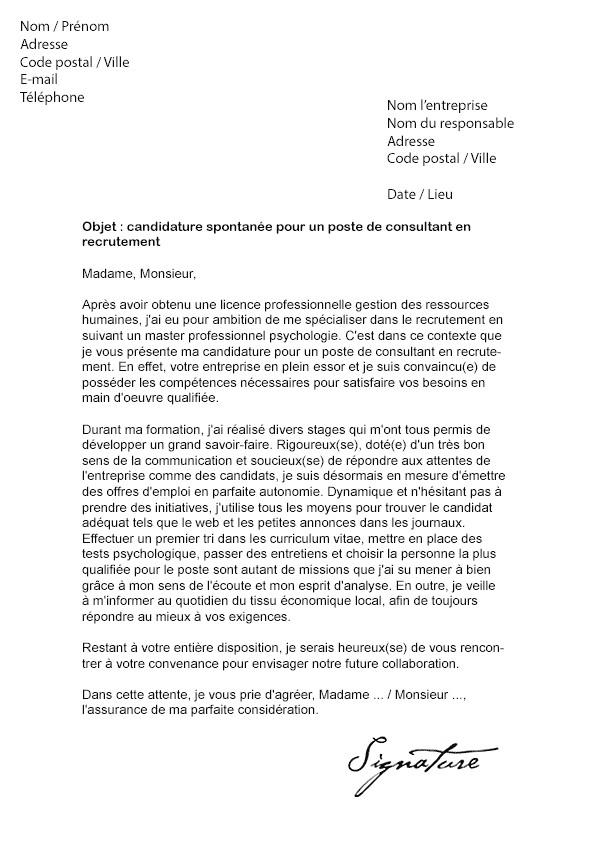 lettre de motivation vae licence pro