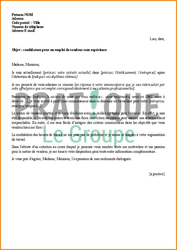 Lettre de motivation premier emploi vendeuse - laboite-cv.fr