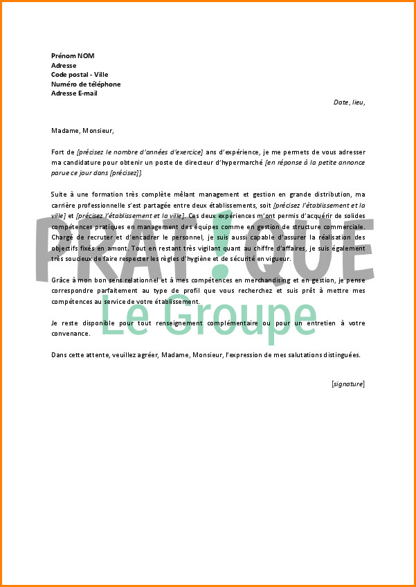lettre de motivation hotesse de caisse spontan u00e9e