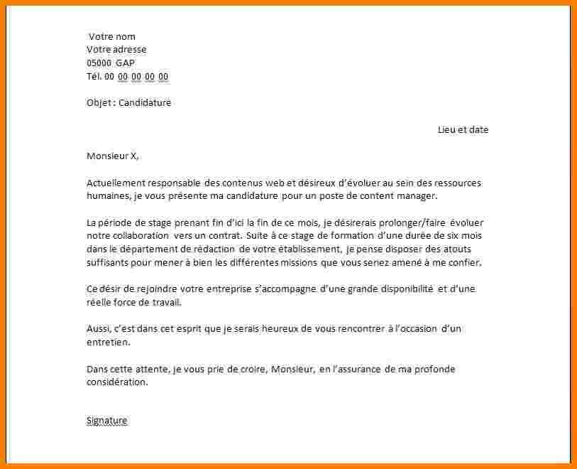 lettre de motivation licence pro responsable d u00c3
