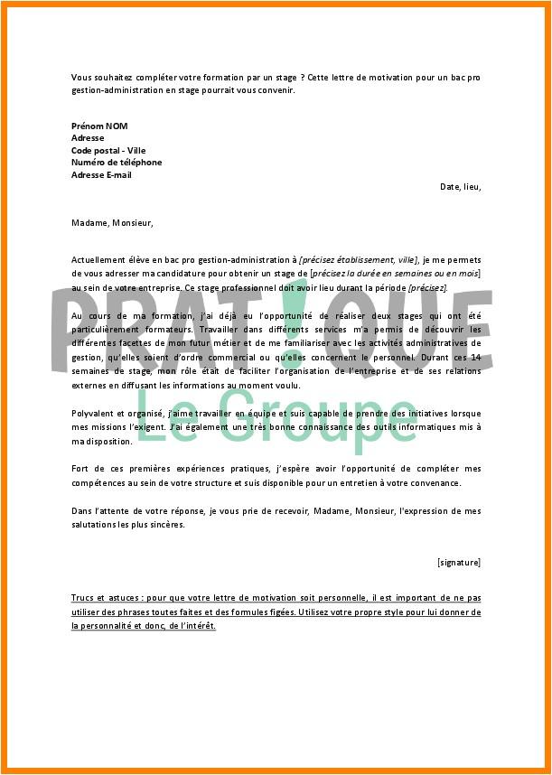 structure d u0026 39 une lettre de motivation pour un stage