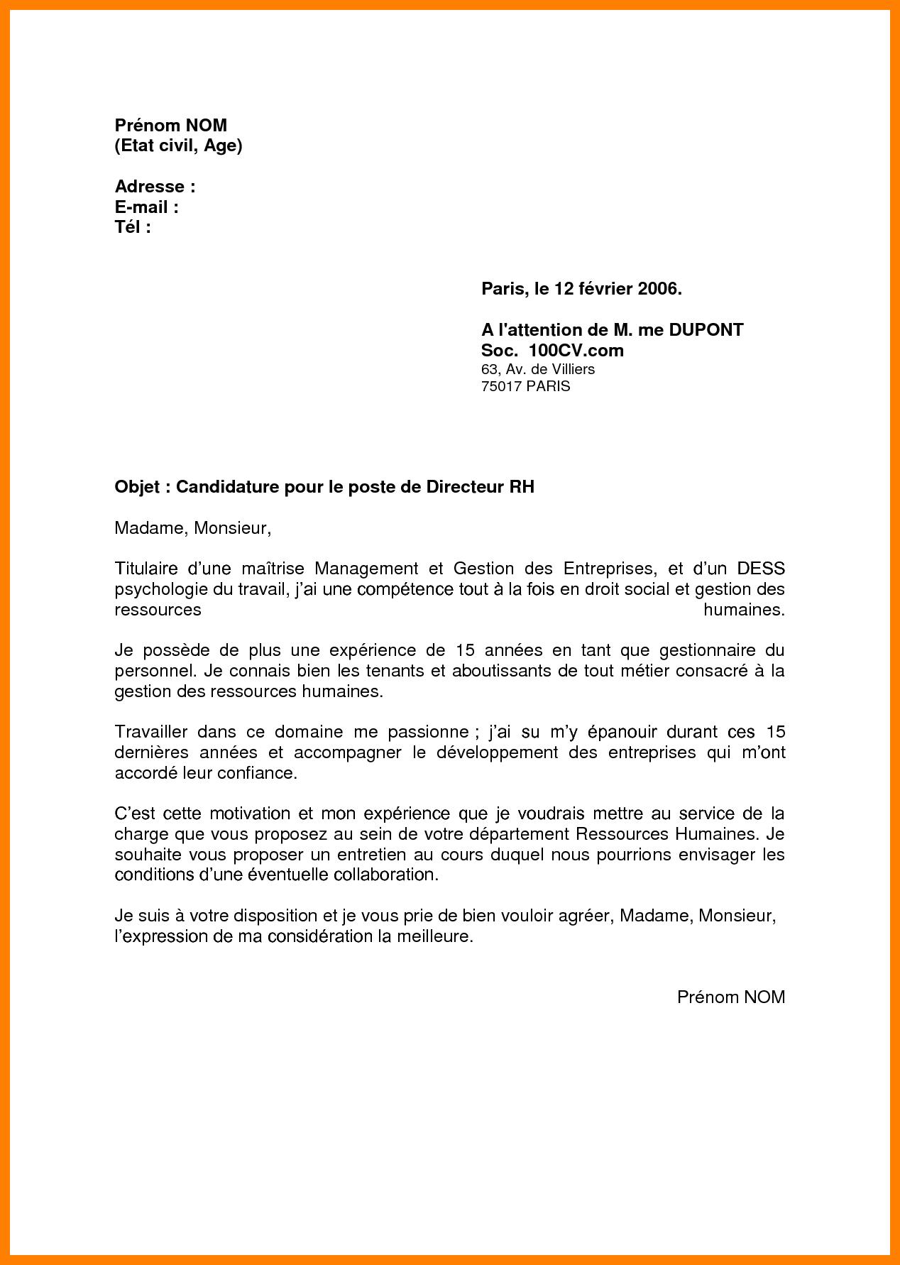 lettre de motivation pour uvf