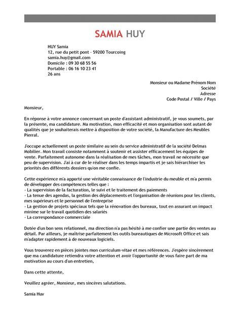 lettre de motivation assistant controleur de gestion