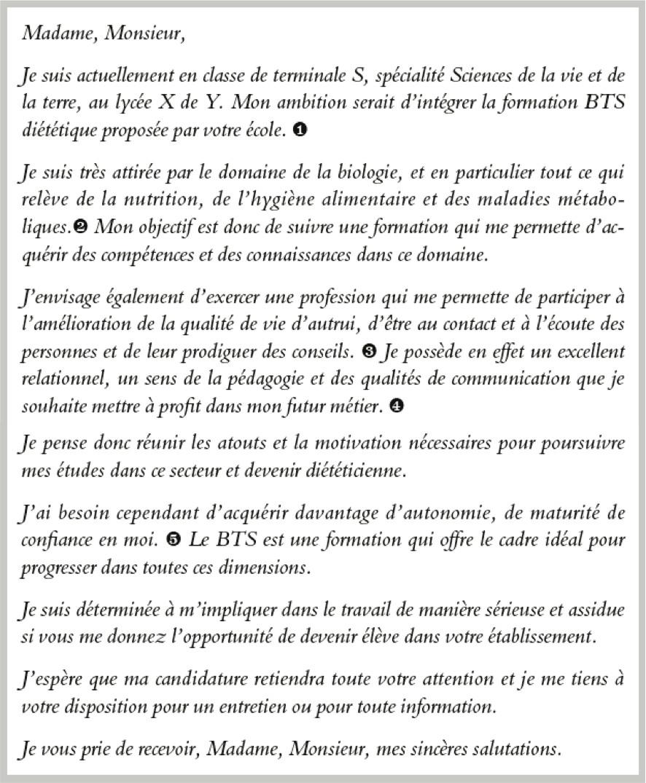 lettre de motivation licence economie gestion l1