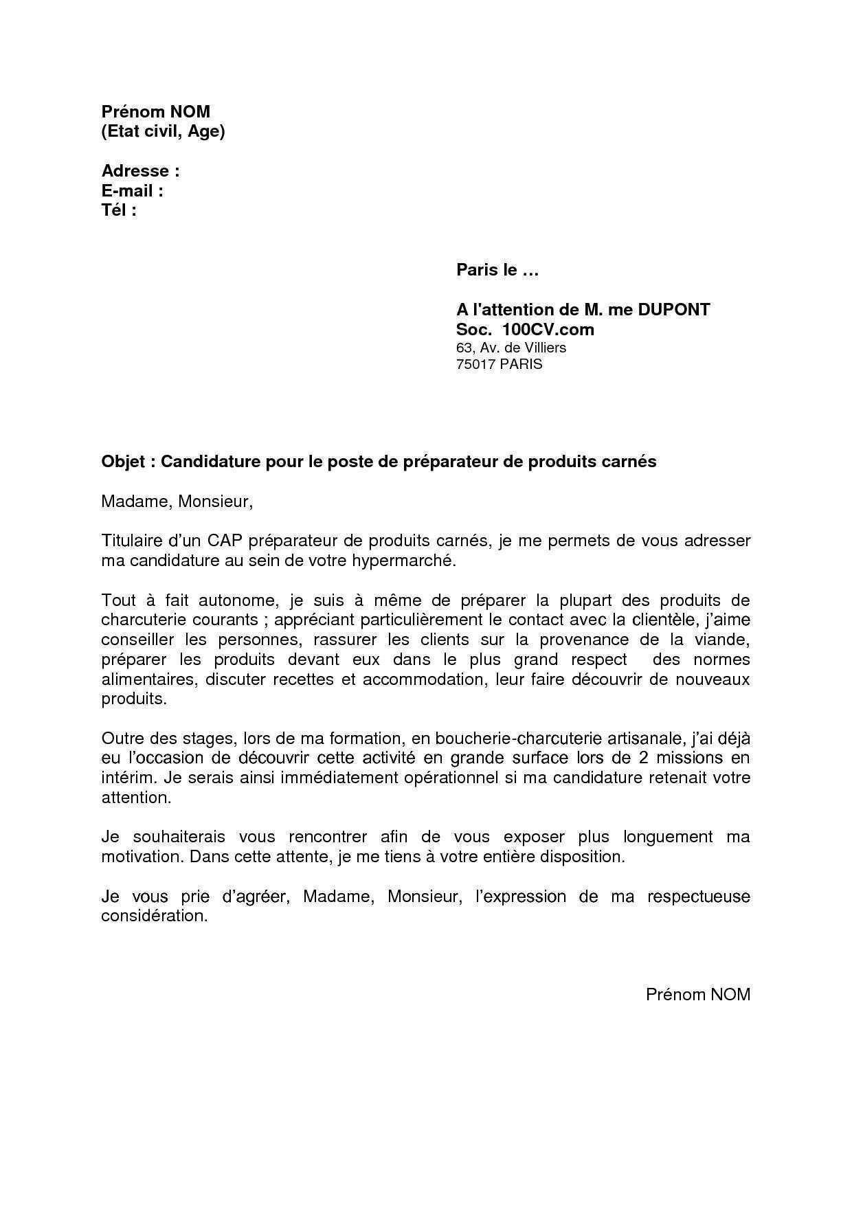 Vendeur polyvalent lettre de motivation - laboite-cv.fr