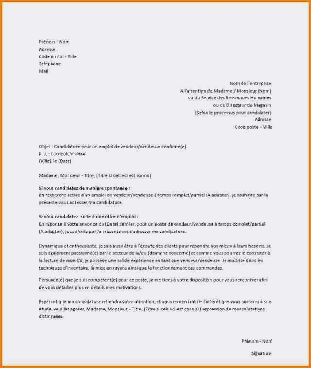 lettre de motivation vendeuse boulangerie avec experience