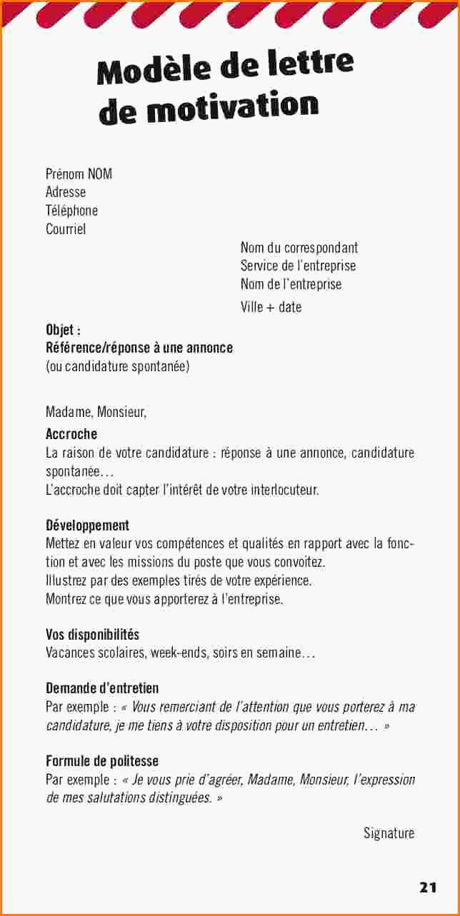 lettre de motivation vendeuse sans experience candidature