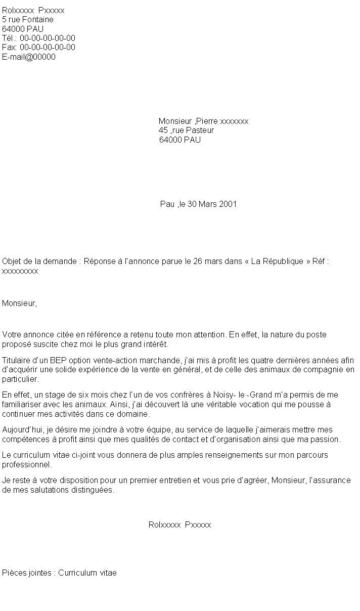 lettre de motivation vendeur comptoir de mat u00e9riels et  u00e9quipements