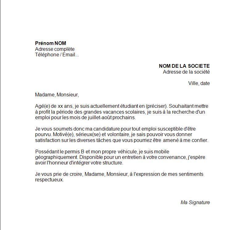 lettre de motivation office de tourisme job d u0026 39  u00e9t u00e9