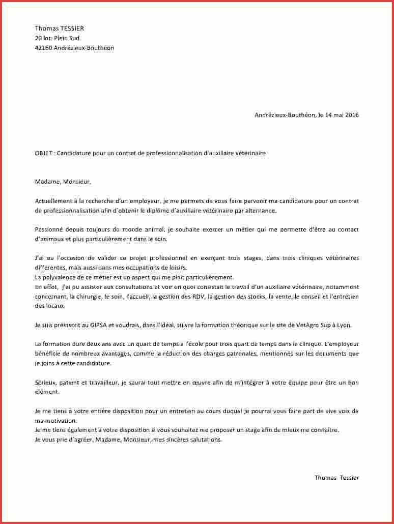 lettre de motivation garde d u0026 39 animaux