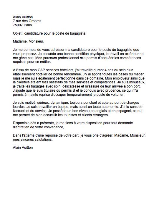 lettre de motivation pour l u0026 39 hotellerie