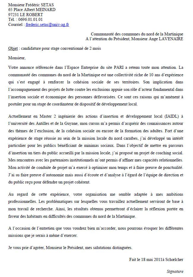 lettre de motivation charg u00e9e de projet culturel