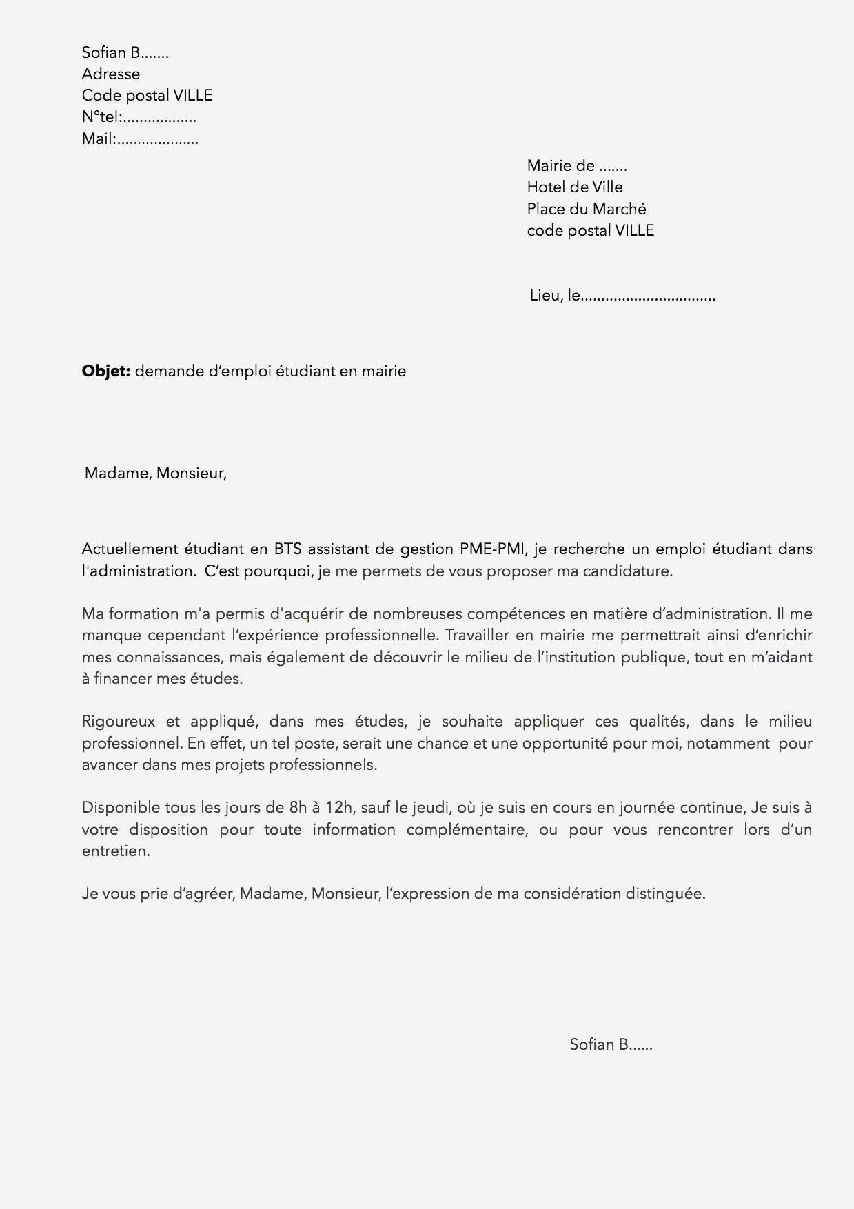 lettre de motivation emploi cultura