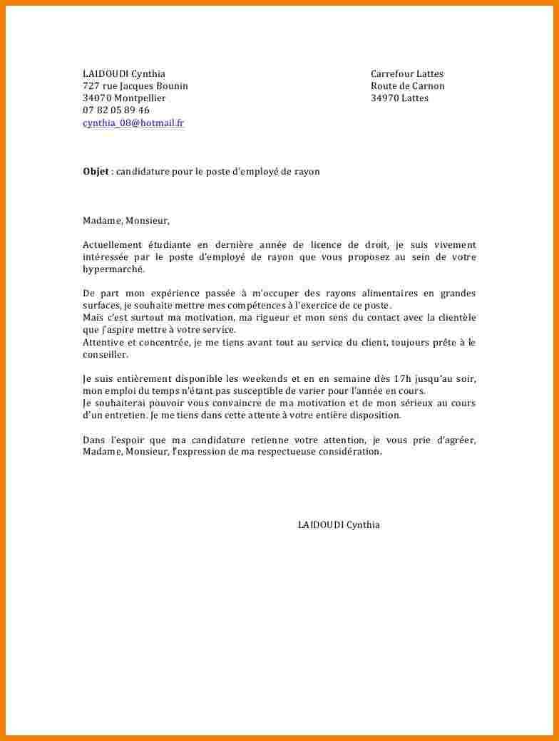 lettre de motivation pour leclerc job d u0026 39  u00e9t u00e9