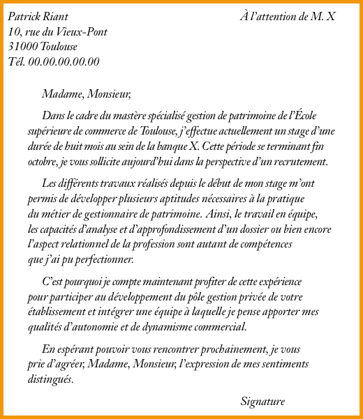 exemple lettre de motivation parcoursup prepa