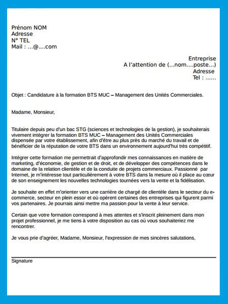 lettre de motivation pour un bts notariat