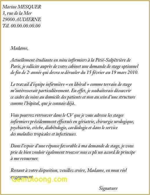 lettre de motivation stage d u00e9couverte infirmier