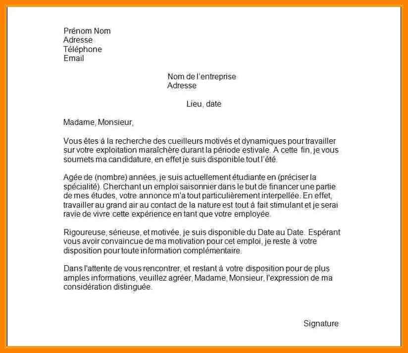 modele de lettre de motivation pour mairie