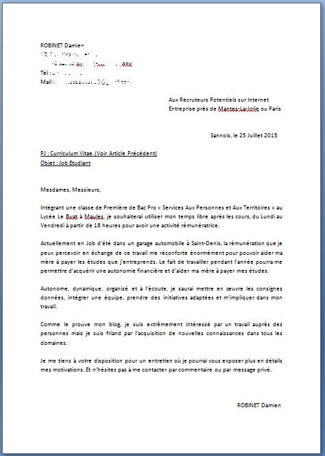 une lettre de motivation manuscrite ou pas