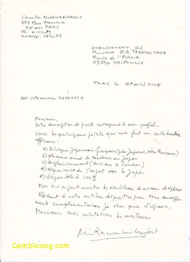 mise en forme lettre de motivation manuscrite