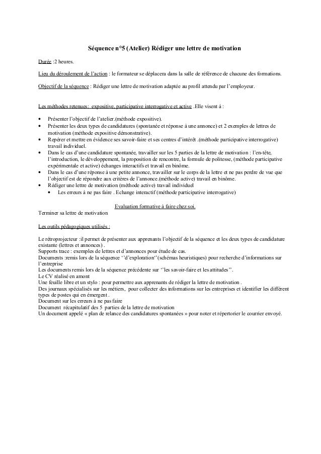 lettre de motivation pour poste de formateur