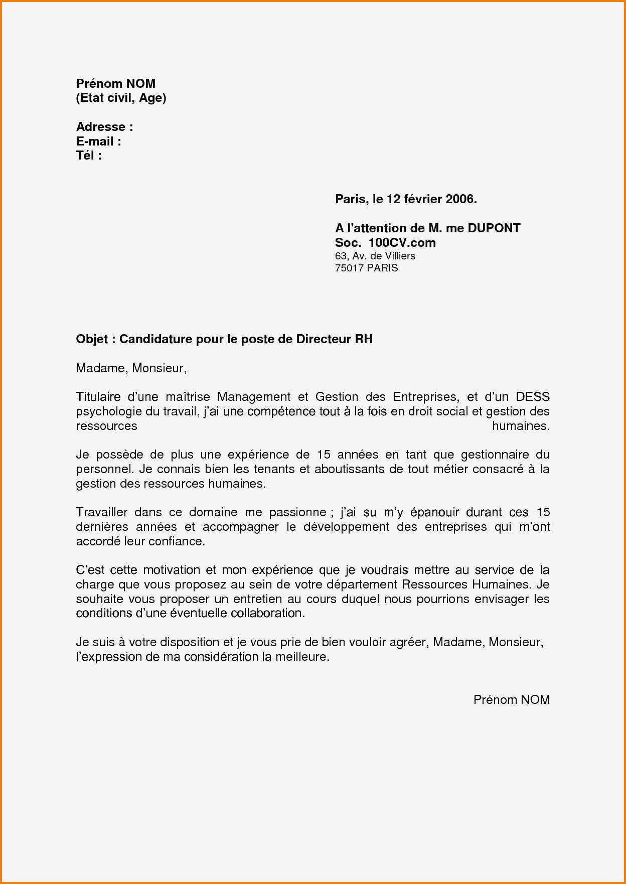 lettre de motivation orange business service