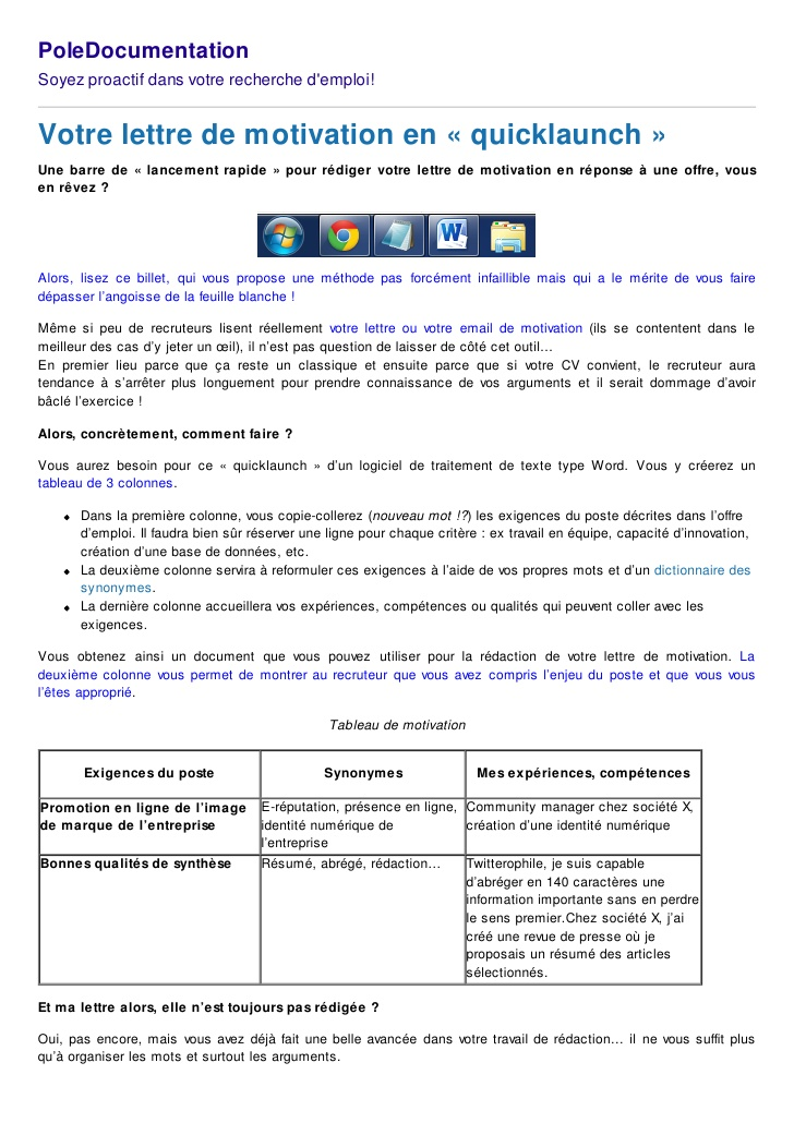 feuille lign u00e9e lettre de motivation
